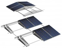 Easy and fast installation of large-scale solar power installations with the TRIC F pro mounting system.